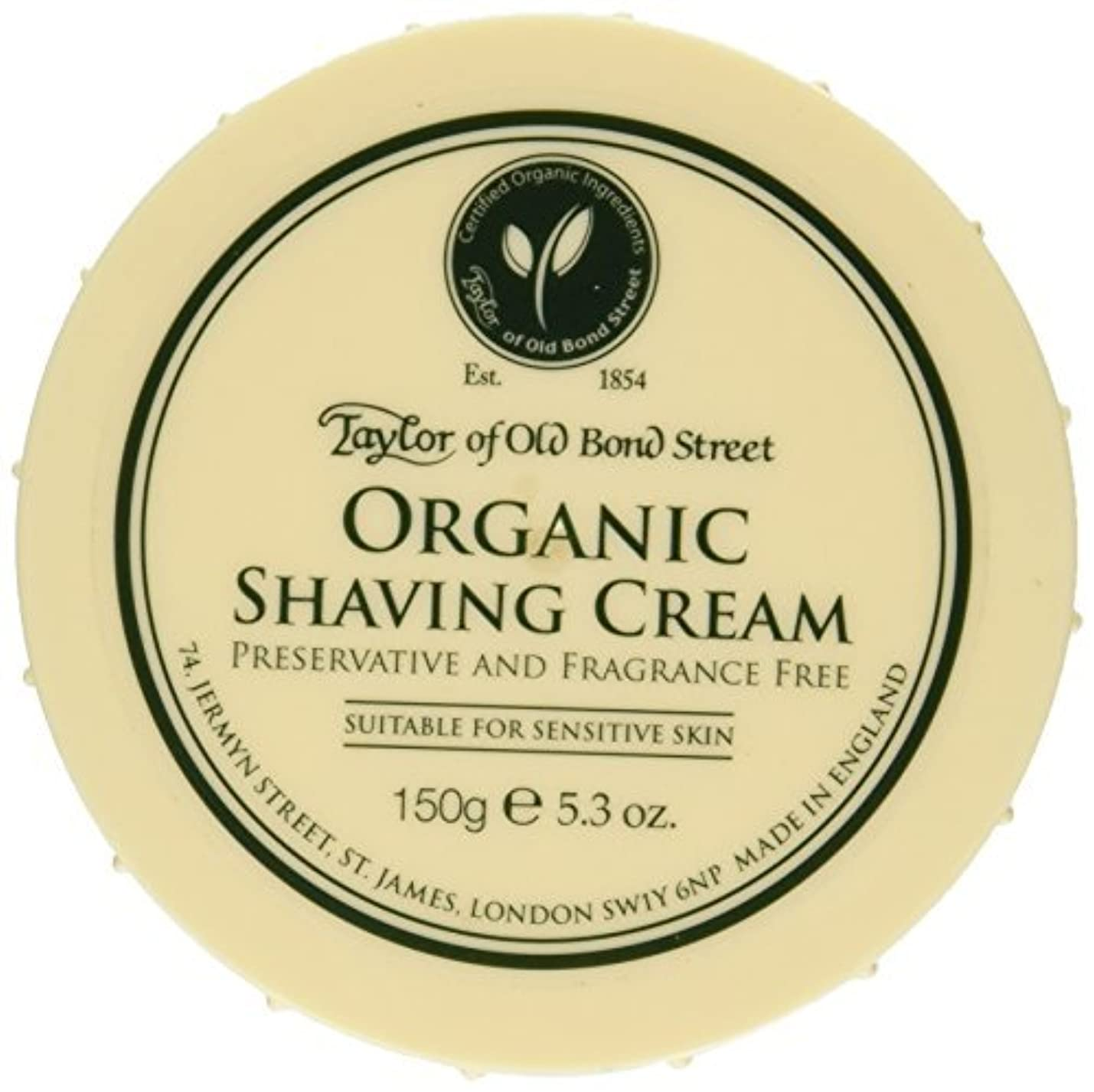 浮浪者マガジンさわやかTaylor of Old Bond Street Organic Shaving Cream Bowl 150 g by Taylor of Old Bond Street
