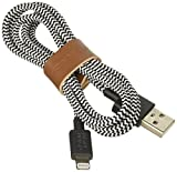 Native Union BELT Lightning-to-USB ケーブル iPhone/iPad/iPod touch 革製ベルト付属 (1.2m, ゼブラ)