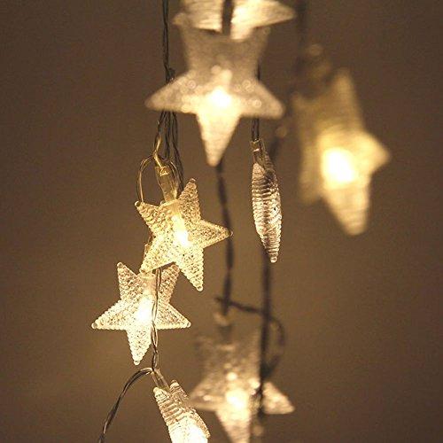 BigFox 星型装飾LEDライト LED 星 イルミネーション オーナメント イルミ LEDストリングライト 飾りスター クリスマス飾り 新発想 防水 10m 80球 結婚式 ホームパーティー お誕生日バー などに最適 雰囲気作り 電飾