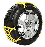 【 スノーチェーンEX 】 車用 サイズ調節可能 車 雪道 スタッドレスタイヤ用 プラスチック アイスバーン 凍結 スリップ 事故 悪路 AZ-SNOEX