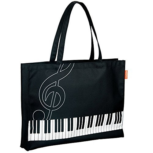 Pianoline ピアノレッスンバッグ(ト音記号&鍵盤柄)...