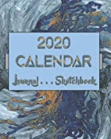 """Artsy AbstractOneFive . 2020 Calendar . Sketchbook . Lined Journal 