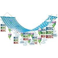 子供の日装飾 鯉のぼりと菖蒲プリーツハンガー L180cm  7264