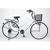 21Technology【MC266】26インチ自転車ママチャリシマノ製6段変速ギア付き