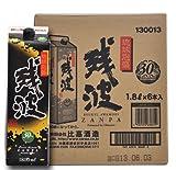 【泡盛】 残波(黒) 紙パック 【1ケース】 30度/1800ml×6本