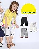 【子供服】 moujonjon (ムージョンジョン) 日本製ラインリボン付6分丈レギンス 80cm~130cm M35144