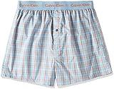 (カルバンクライン)Calvin Klein Boxer Matrix Woven Slim Fit Boxer トランクス 53671513 60 アランプレイドブルー L