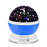 投影ランタン 美しいスポット星空ライト プロジェクターランプ インテリアライト ロマンチックな雰囲気作り 360度回転 電池/USB給電 夜間ライト 誕生日プレゼント、パーテイー、フェスティバルなど対応 (ブルー)