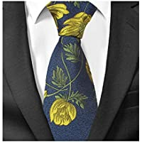 Men's Novelty Paisley Floral Ties Jacquard Woven Formal Wedding Designer Necktie