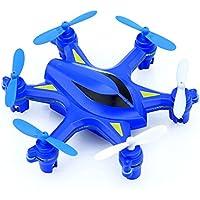 Springdoit ミニ2.4GHz Quadcopter UAVローリングリモートコントロールドローンおもちゃヘリコプタークリスマスギフト(ブルー)