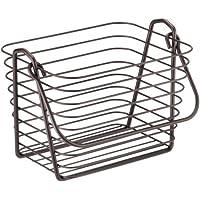 (Small, Bronze) - InterDesign Classico Basket, Small, Bronze