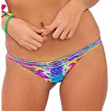 Luli Fama Women's Barefoot and Free Stringy Moderate Bikini Bottom