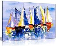 ボートで海油絵キャンバス壁アート画像印刷 A1 76x51 cm (30x20in) 0615517264700