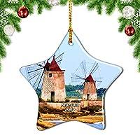 Weekinoフランスマウントホワイトシャモニーアルプスクリスマスデコレーションオーナメントクリスマスツリーペンダントデコレーションシティトラベルお土産コレクション磁器3インチ