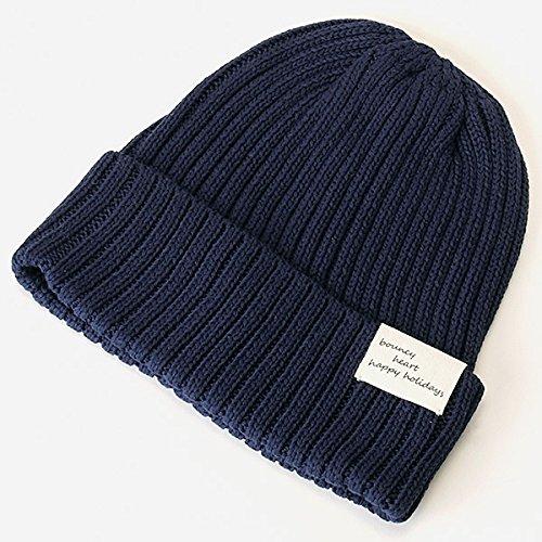 アプワイザー・リッシェ(Apuweiser-riche) 帽子(ロゴネーム入りニット帽)【40紺/F】