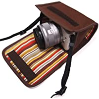 カメラケース ミラーレス キャノンEOS M100 /M10ケース(ココア)-suono(スオーノ)ハンドメイド