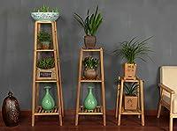 フラワーポットシェルフ\フラワースタンド ラダー屋内庭ハーブポットショーケース折り畳み竹(複数のサイズのオプション) フラワーラック\厚板フレーム (色 : D)