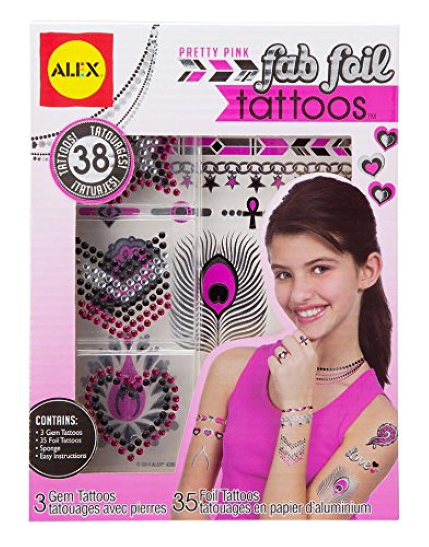 AlexおもちゃSpa Fab Foil Tattoos Prettyピンク
