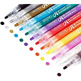 Premium Acrylic Paint Pen by ZEYARWater based Medium PointAssorted ColorsOdorlessAcid FreeNon-Toxic and SafeOpaque InkSet of