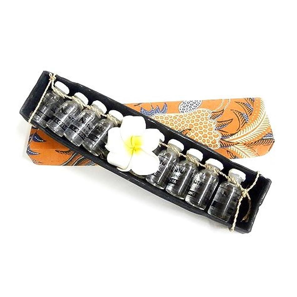 理容師グロー森アロマオイル6種セット 木枠入り アジアン雑貨