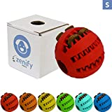Zenify Puppy Toys Dog Toy Food Treat Interactive Puzzle Ball for Tooth Teething Chew Fetch Tennis Training Boredom Behaviour Dispensing Stimulation Pet Dogs & Puppies (Red Small)