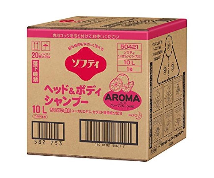 感度新鮮な好き花王61-8510-01ソフティヘッド&ボディシャンプーAROMA(アロマ)10Lバッグインボックスタイプ介護用