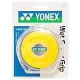 ヨネックス(YONEX) テニス バドミントン グリップテープ ウェットスーパーグリップ ケース付き (5本入り) AC1025P イエロー