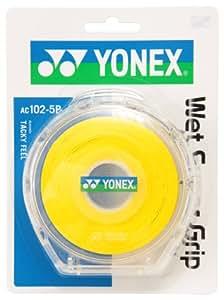 ヨネックス(YONEX) ウェットスーパーグリップ5本パック(5本入) イエロー AC1025P 004
