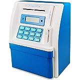 TUSEASY Piggy Bank Coin Cash Mini ATM Savings Money Banks Great Gift for Children (Blue)