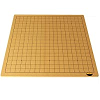 Globee 本格囲碁 高品質 木製碁盤 19路盤 13路盤 リバーシブル 両面 初級 囲碁入門 碁石別売