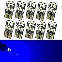 Nakobo 10個 T10 LED ブルー 爆光 キャンセラー内蔵 車検対応 4014 チップ12V カー/バイク ポジション ナンバー灯/ルームランプ (一年保証)