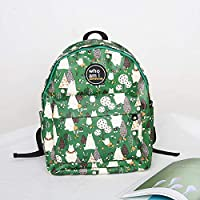 Christmas Tree Pattern Backpack Women's Versatile Fashion Waterproof Backpack Student Bag