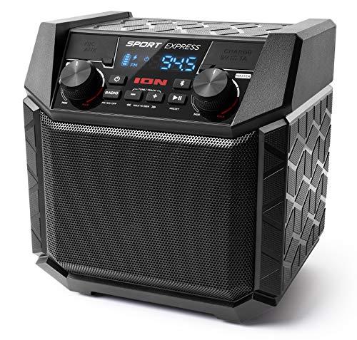 ION Audio 防水Bluetoothスピーカー 50時間バッテリー スマホ充電可能 20W AM/FMラジオ Sport Express