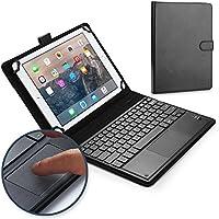 """Lenovo ThinkPad 10, Tablet 2 10.1"""" キーボード ケース COOPER TOUCHPAD EXECUTIVE 2-in-1 ワイヤレス Bluetooth キーボード マウス レザー トラベル Windows Android 持ち運び ケース カバー ホルダー フォリオ ポートフォリオ + スタンド(ブラック)"""