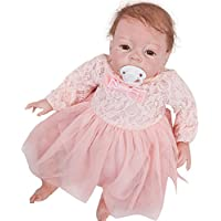 Rebornベビー人形ソフトSilicone 22インチLovely Lifelike Girl Toyギフト