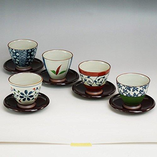 西海陶器 染錦いろどり 仙茶揃(茶托付) 13041