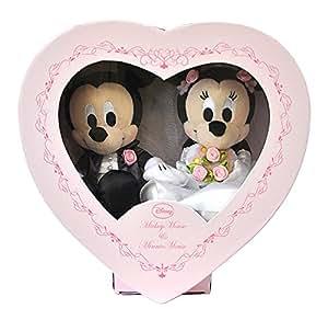 ディズニー ブライダル ミッキーマウス&ミニーマウス(NEWハートBOX) ぬいぐるみ 高さ17cm