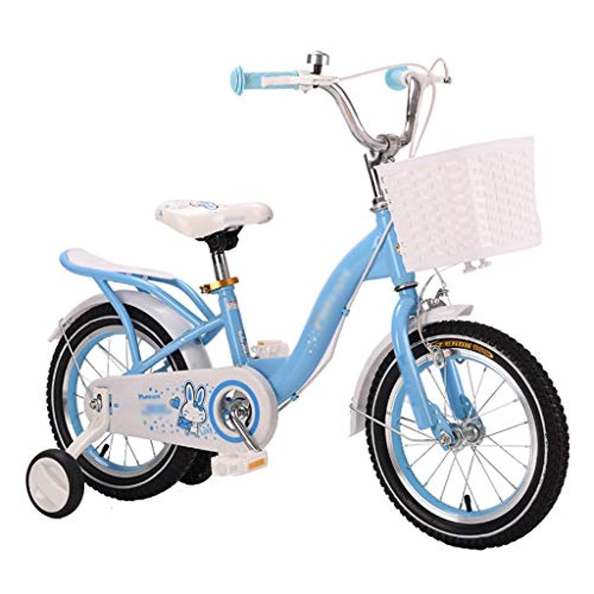 そうエッセンスきつく3-9歳の少女自転車12 14 16 18インチ補助輪付き子供用自転車、三脚付き子供用自転車、幼児用自転車、ピンク、ブルー、パープル