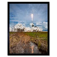 Space X CRS-11 Mission Rocket Launch SpX-11 Art Print Framed Poster Wall Decor 12x16 inch スペースロケットポスター壁デコ