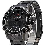 BINZI NAVIFORCE メンズ トレッキング腕時計 アナデジ表示 軍事スポーツウォッチ マルチスタイル 日常生活防水