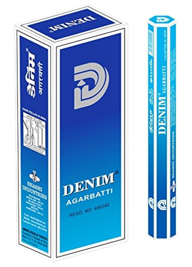 堂々たる留まる凝視SHASHI社 スティック型インドお香 DENIM 6箱セット