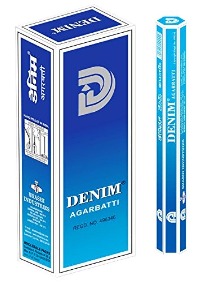 相対サイズ交換番号SHASHI社 スティック型インドお香 DENIM 6箱セット