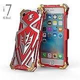 MQman新作雷神? iphone8 iphone8plus iphone7 iphone7plus ケース 最強級金属合金カバー超頑丈格好いい トランスフォーマー アイフォン7ケースアルミメタルバンパーフレーム (iphone7/8, 赤)