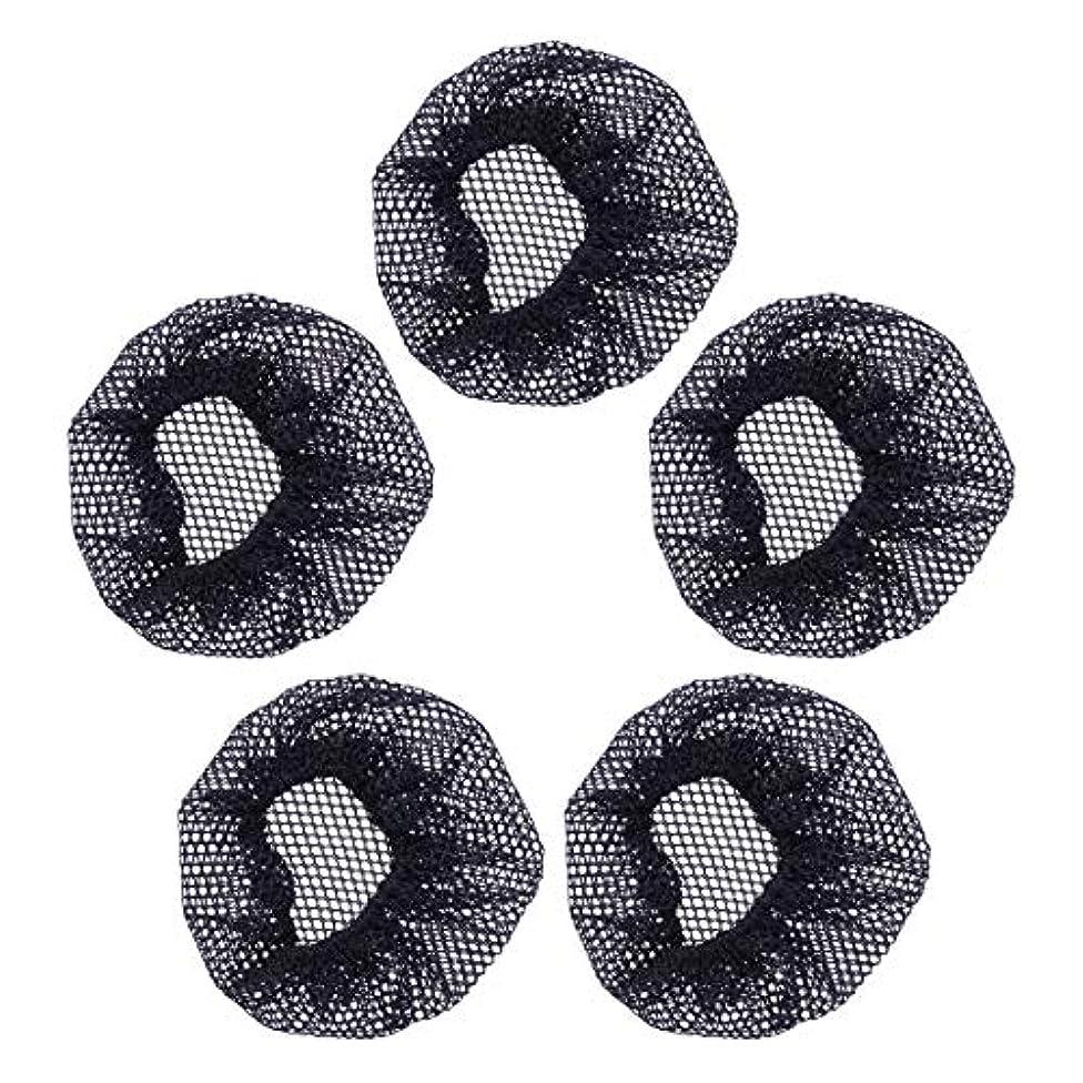 組み合わせ静的影響Beaupretty 5ピースヘアネットバンズヘアダンサー用バレエダンスヘアネットヘアネットバンズヘアアクセサリー女性用女の子(小穴、レースなし)