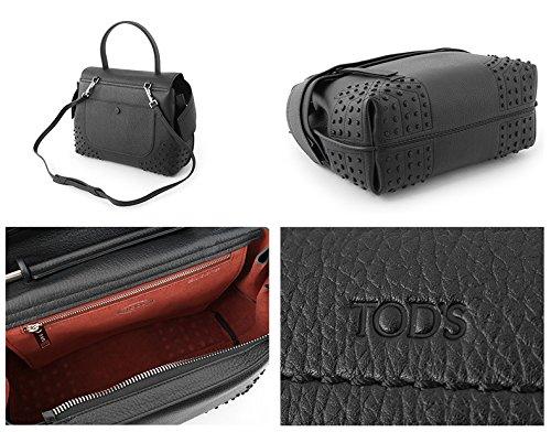 TODS トッズ XBWA MRWG201 AMR MONOSPALLA PICCC GOMM bag ボストンバッグ トート ハンドバッグ ショルダーバッグ カラーB999/ブラック [並行輸入品]