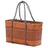 型番7012 内布付き高品質 竹かごバッグ お洒落和装雑貨 【かごのお店ラッセル】