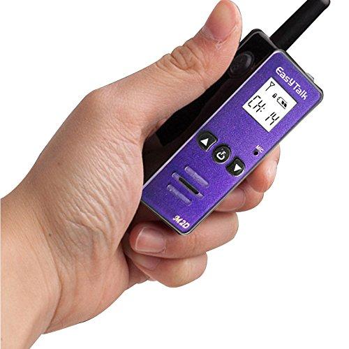 超小型特定小電力トトランシーバー アンテナ内蔵 USB充電式 EASYTALK M2D 20CH UHF 1km (MAX 2km) 長距離 ...