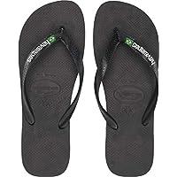 1f7de6f7e5884a Havaianas Men s Brazil Logo Flip Flops Black Black 43-44 M EU