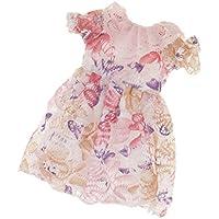 Dovewill 衣類アクセサリー 1/6 BJD SD AS DZ DOD LUTSドルフィー用 洋服 レースドレス スカート ドレス ピンク