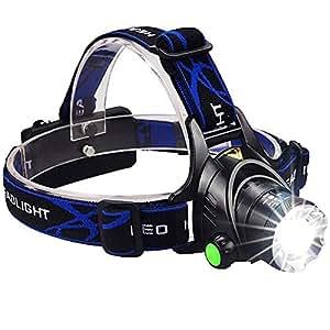 ledヘッドライトBengoo ヘッドランプ 作業灯 スポットライト登山 夜釣り バイク アウトドア活動 防水 単四電池対応 超高輝度 米国CREE LEDアウトドアライト 四つ点灯モード 小型軽量 角度調整可